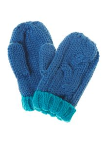Boy`s knitted mittens