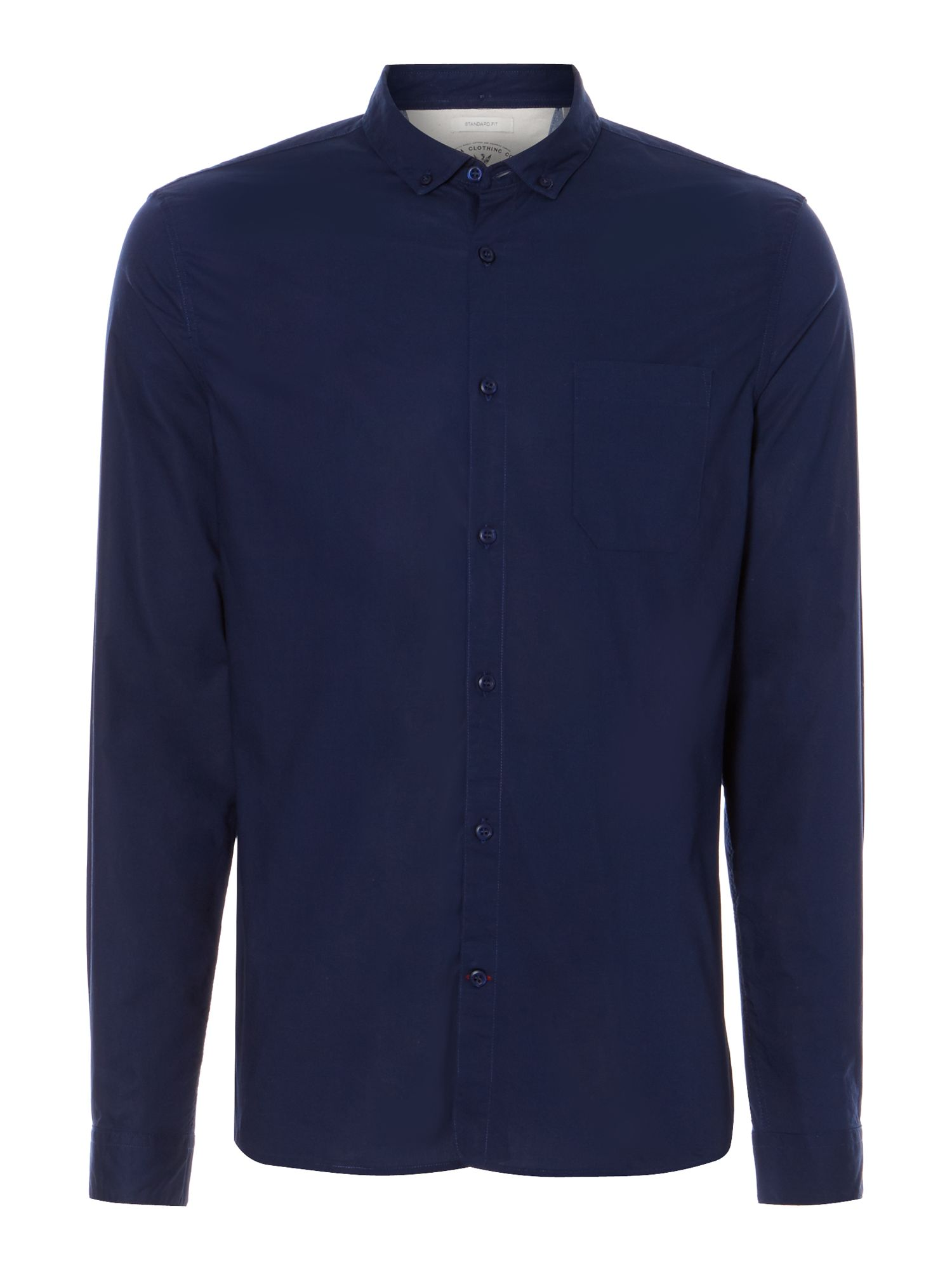 henry plain cotton long sleeved shirt