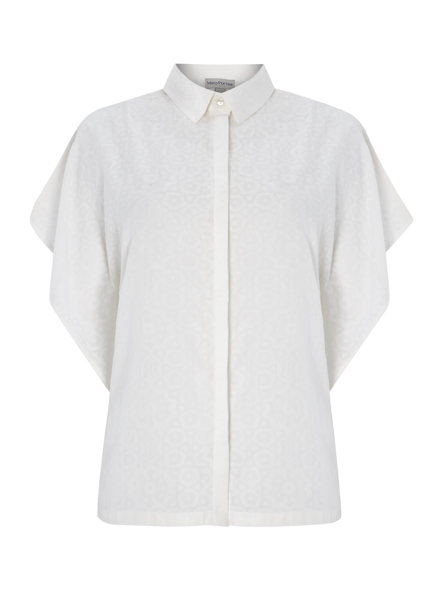 Oversized no brainer geo burn out shirt
