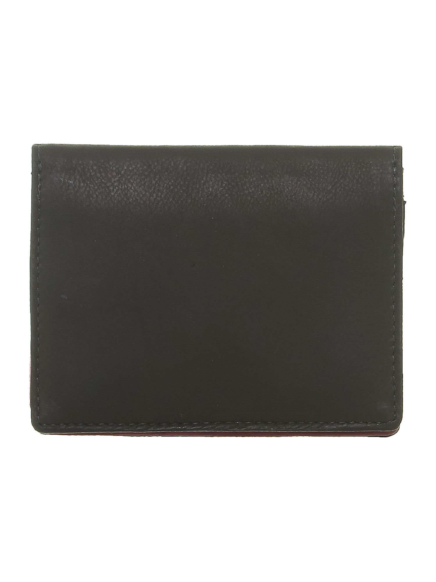Black with purple internal card holder