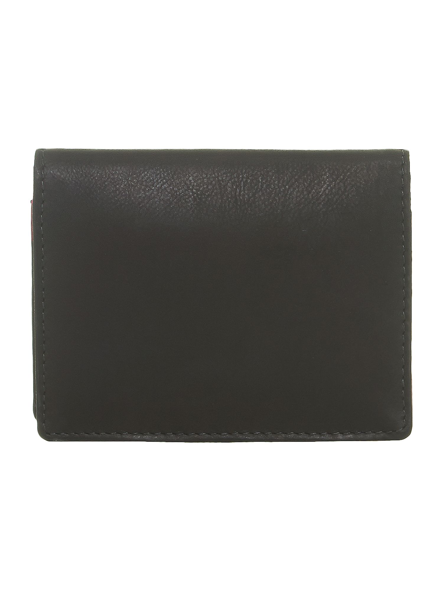 Black with purple internal leather card holder