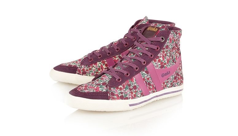 Gola quota high petal trainer shoes