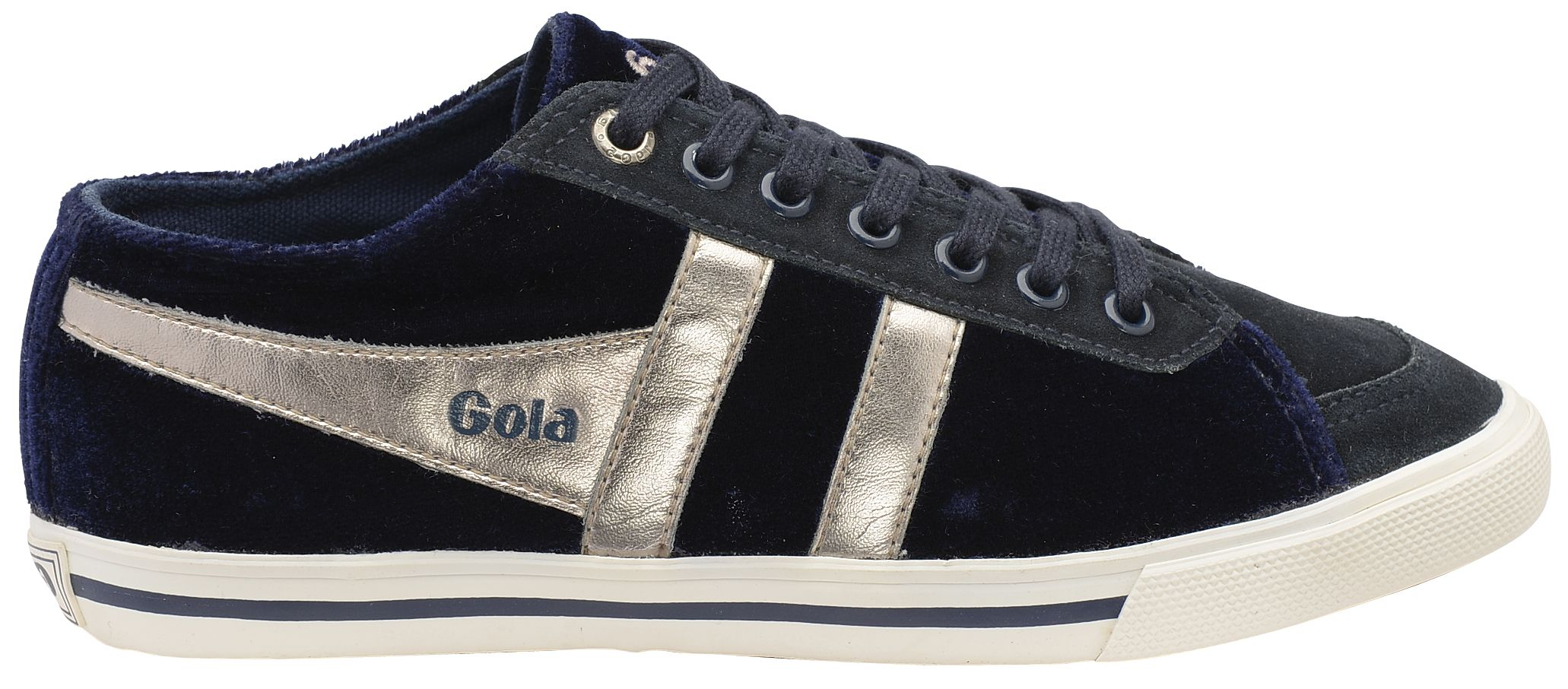 Gola quota velour trainer shoes
