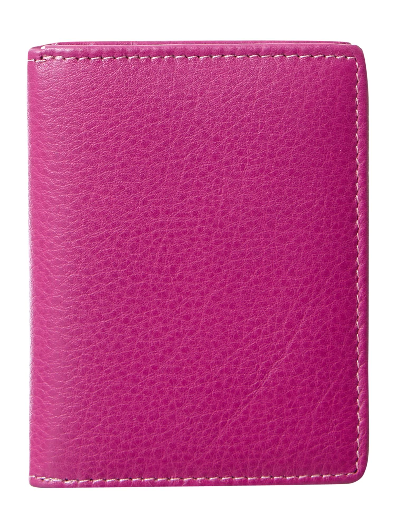 Pink with spot internal card holder