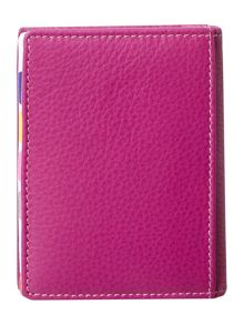 Pink with spot internal leather card holder