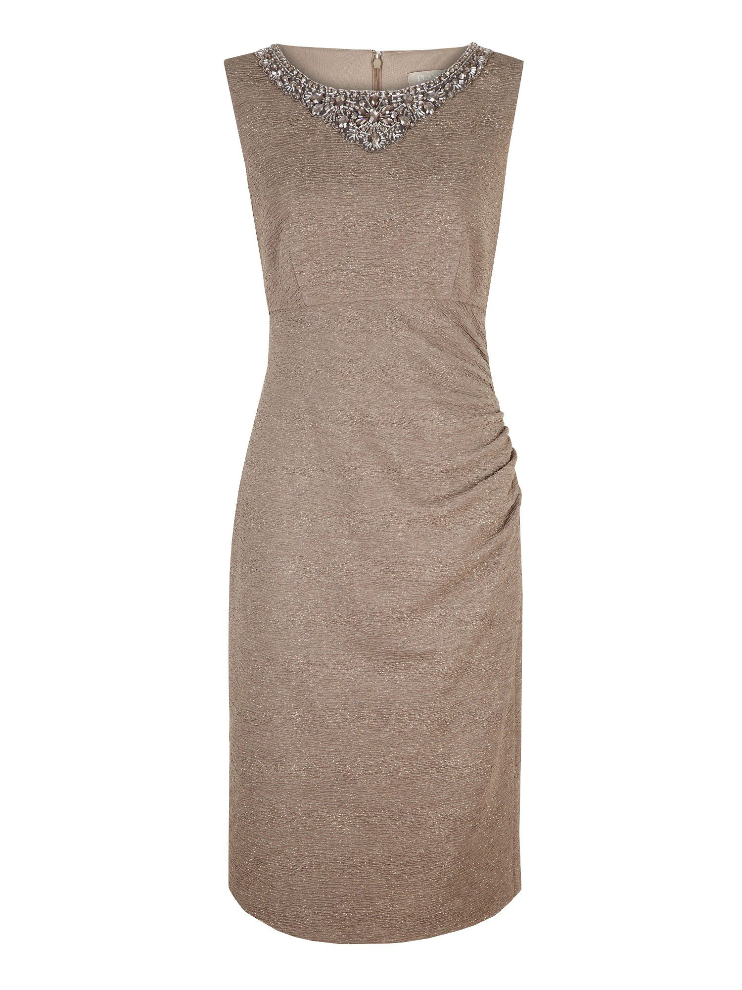 Embellished neckline dress