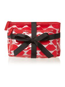Red lips cosmetic bag set