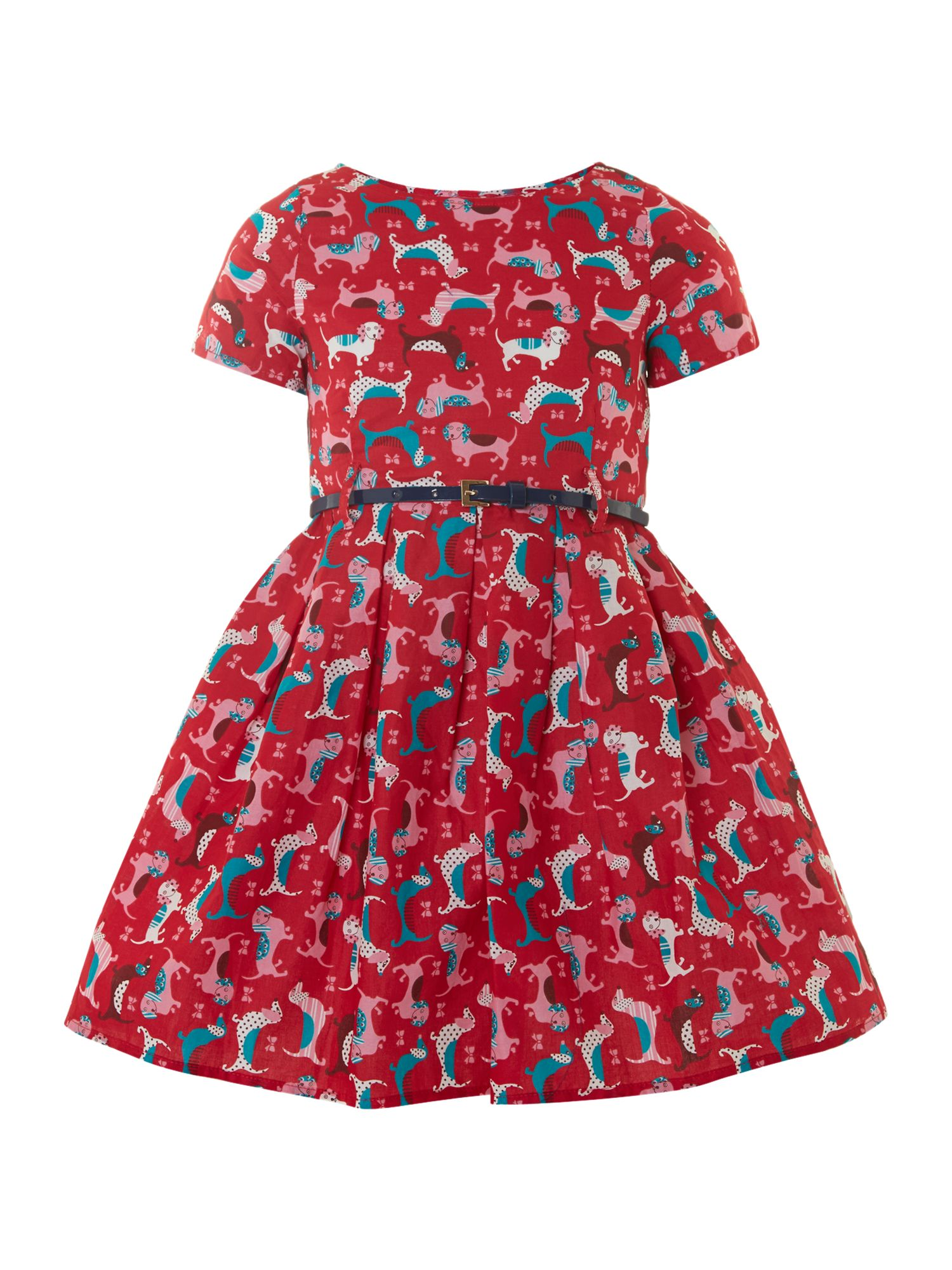 Girl`s dog print dress
