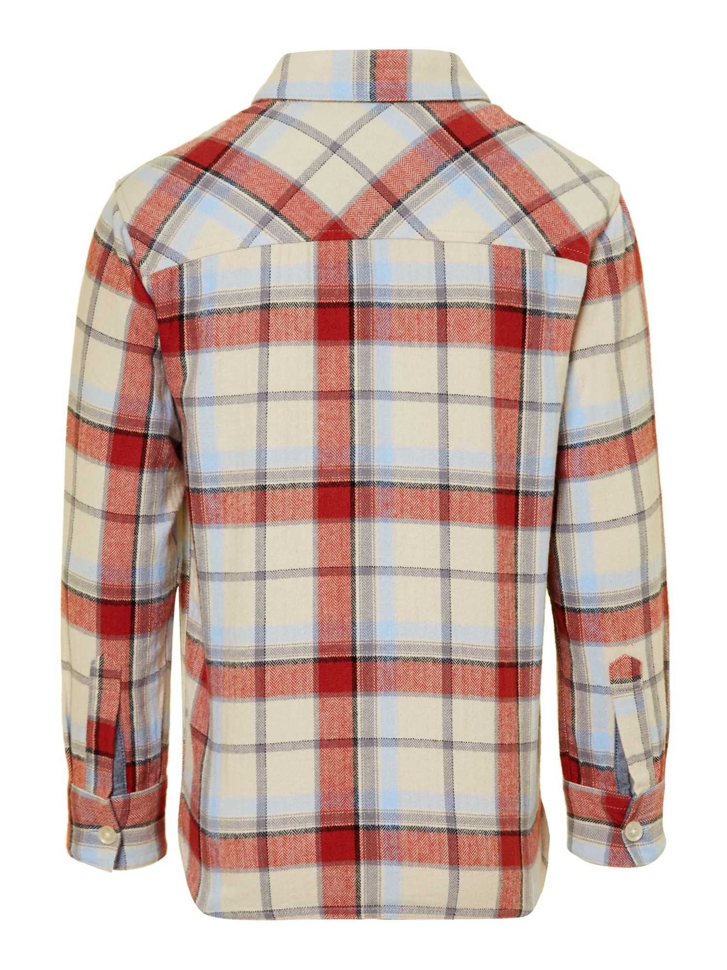 Boy`s herringbone check shirt