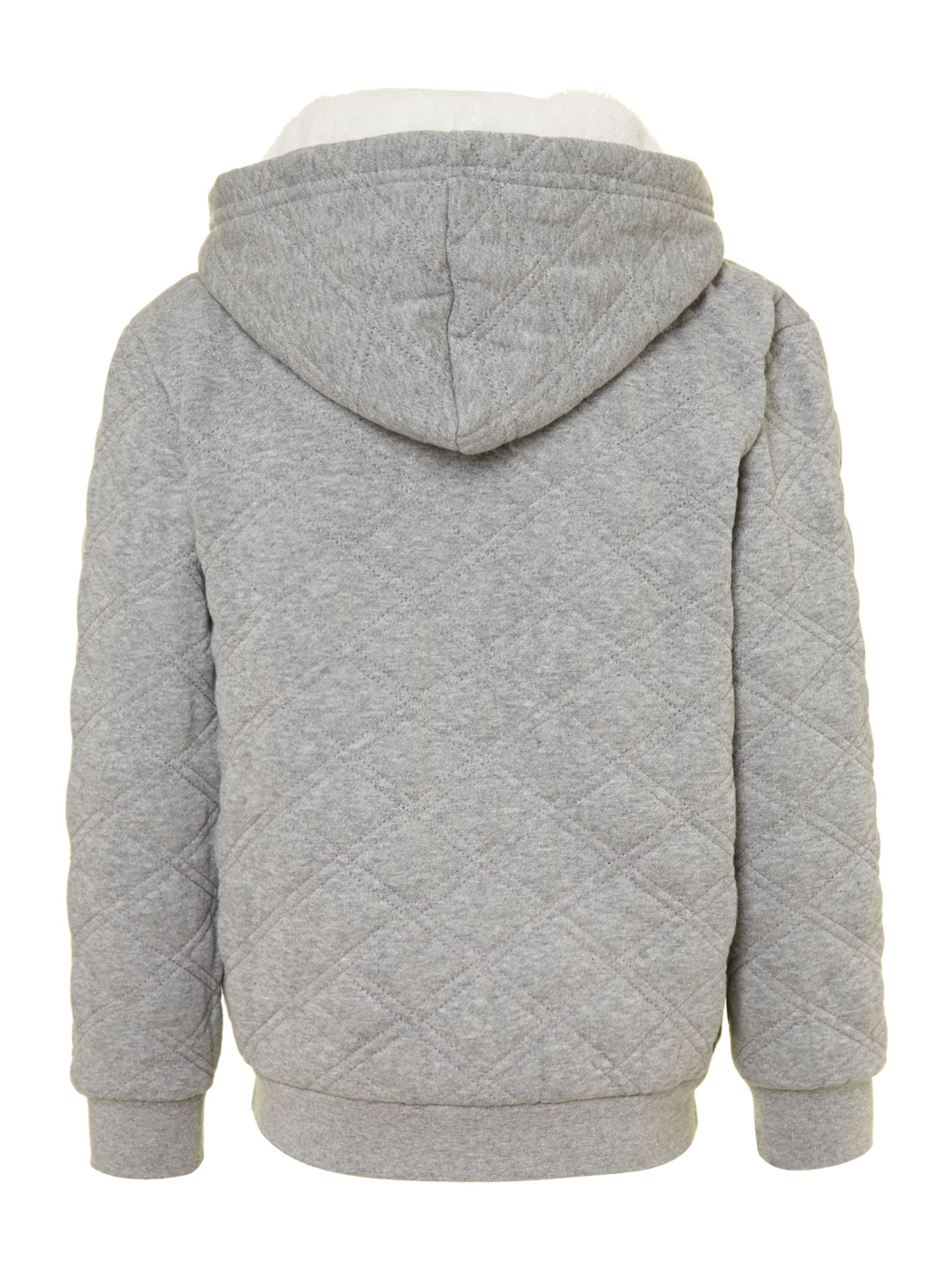 Boy`s quilted sweat hoody