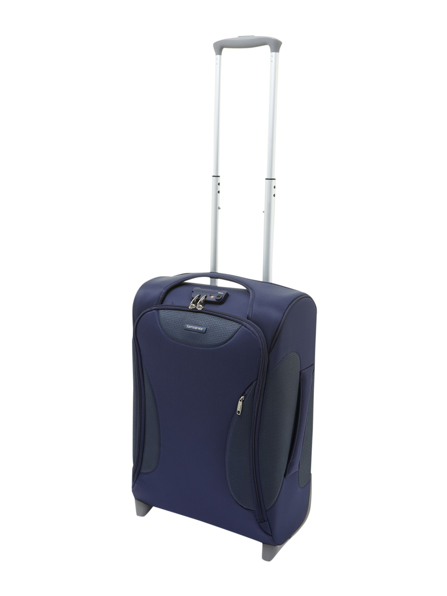 Panayio 55cm upright 2 wheeled case blue