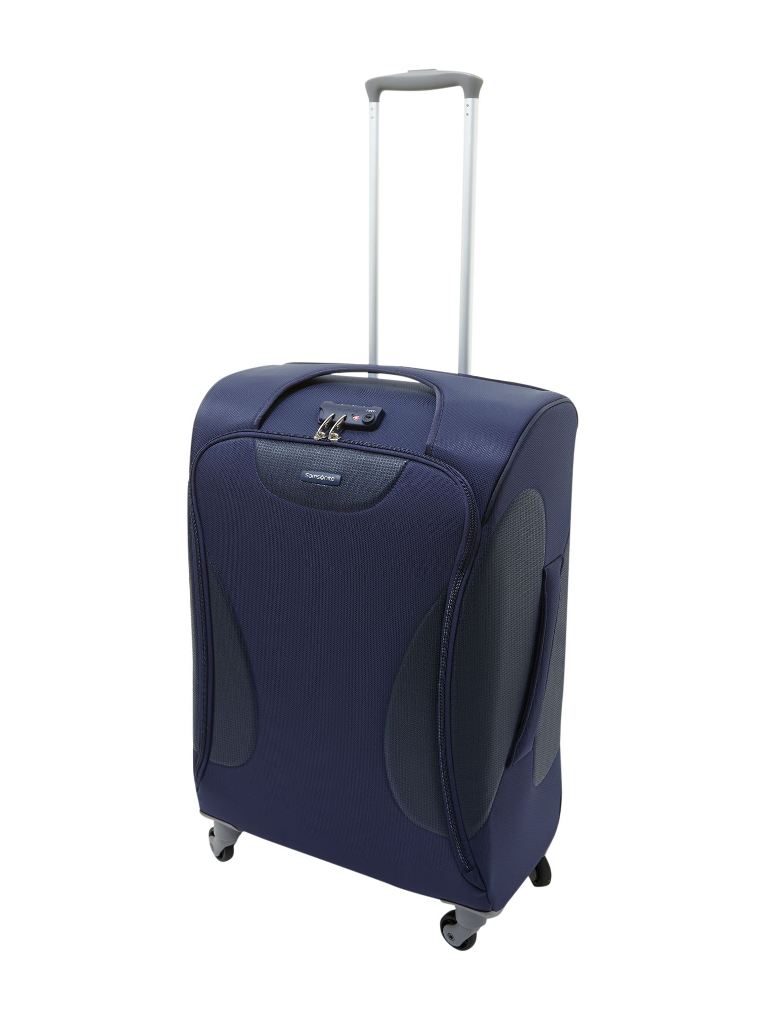 Panayio 68cm spinner 4 wheeled case blue