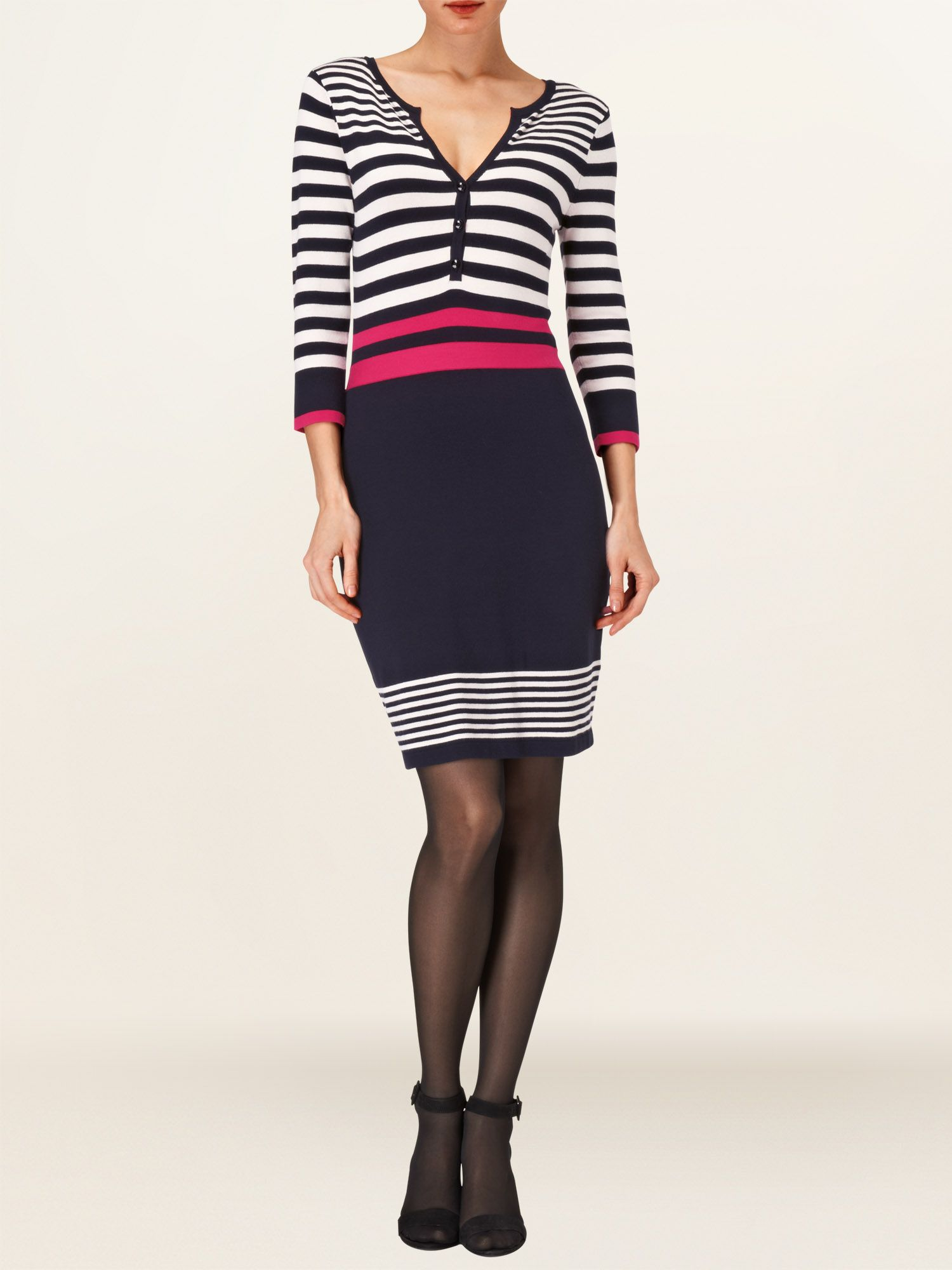 Block stripe newark dress