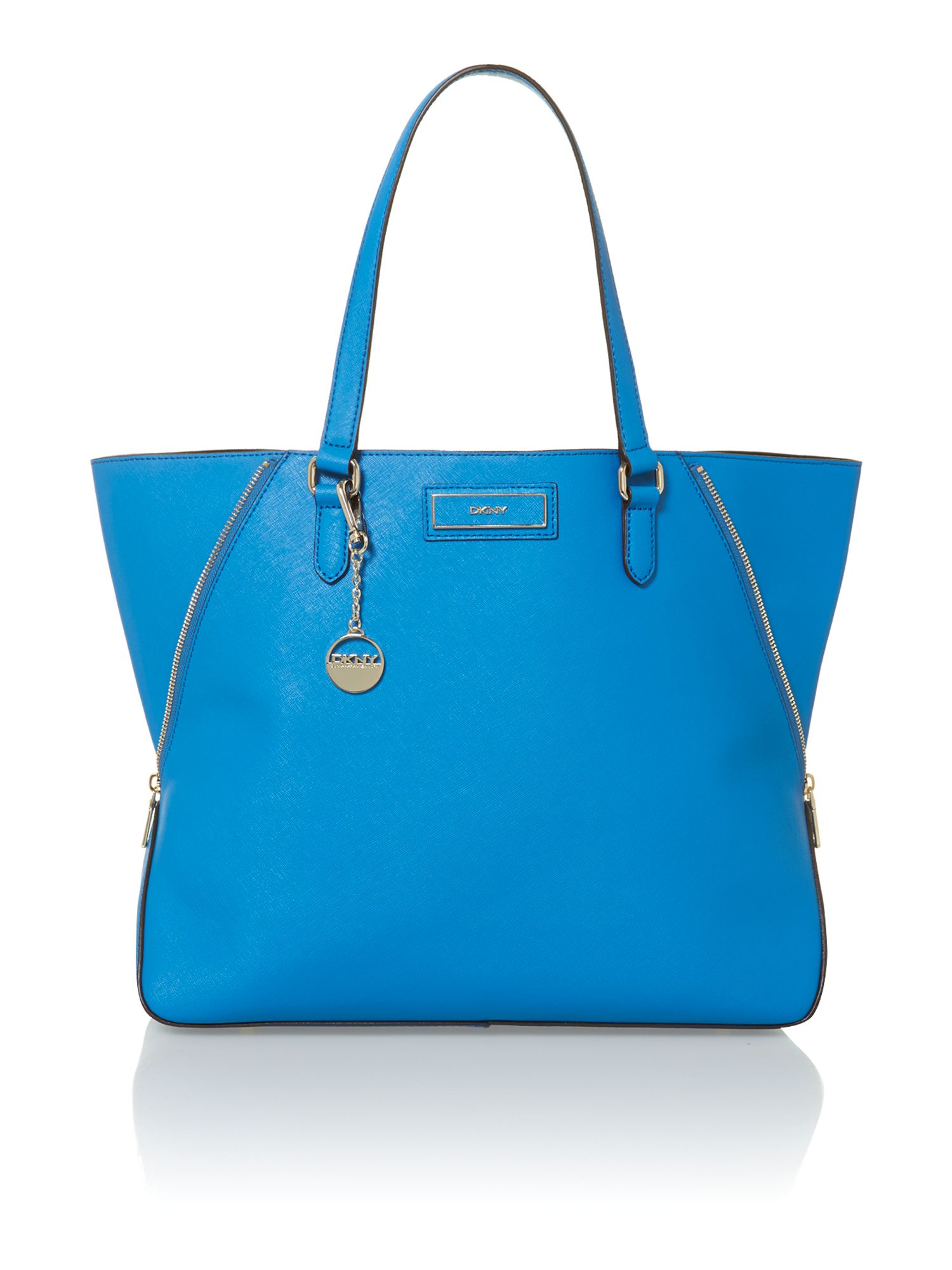 Saffiano blue large tote bag