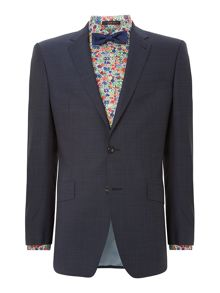 Birdseye texture regular fit suit