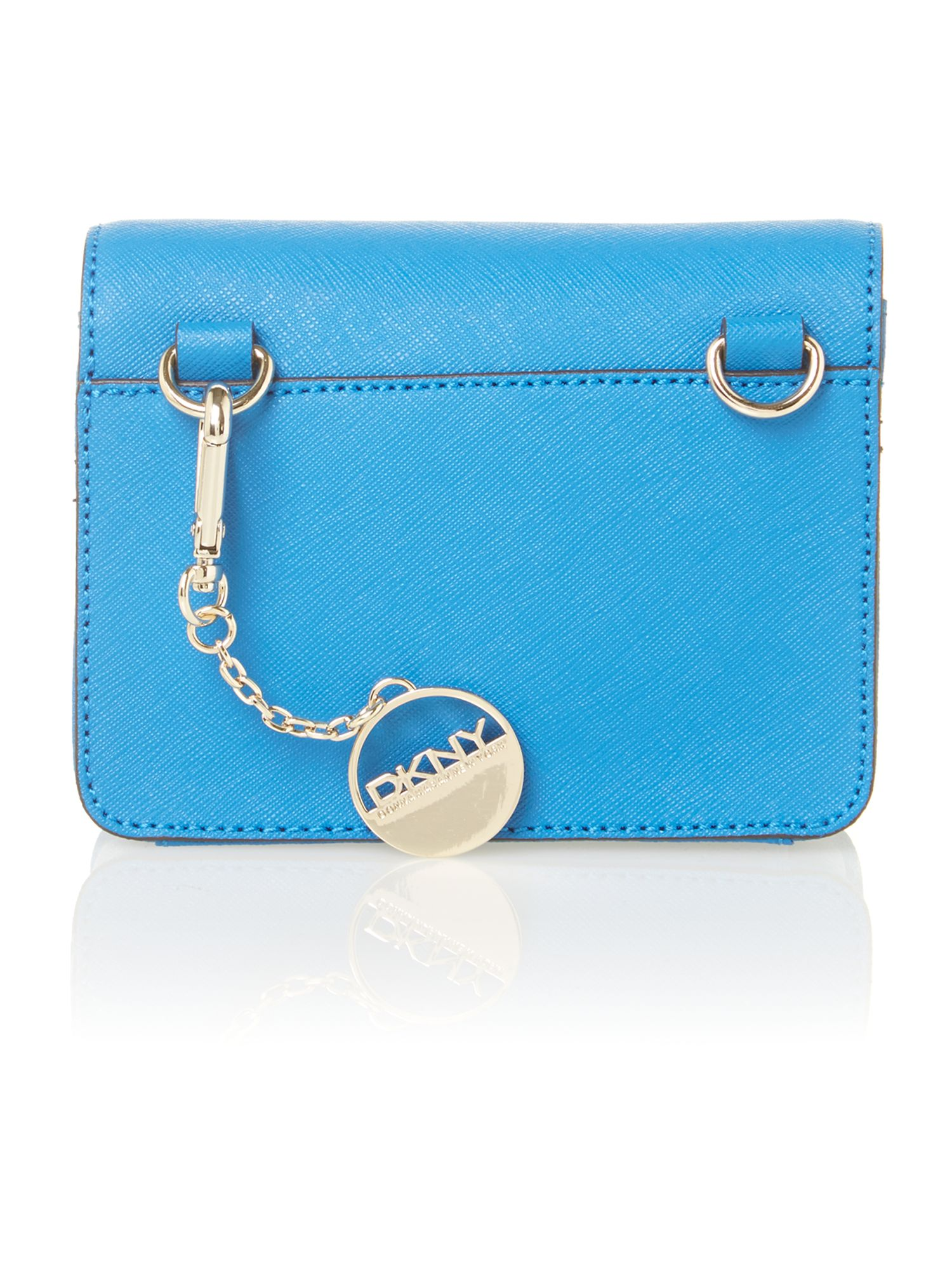 Saffiano items blue mini crossbody bag