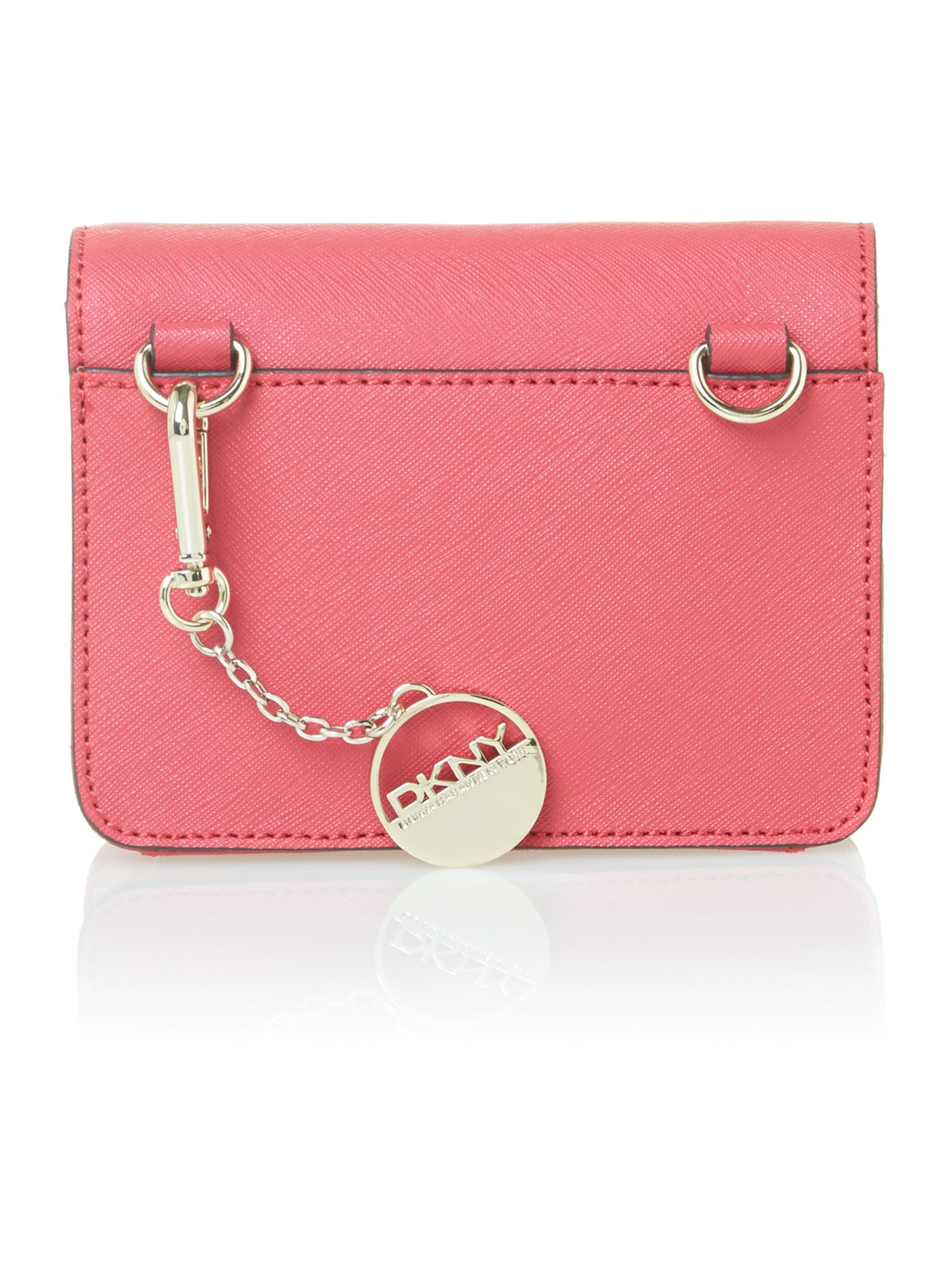 Saffiano items pink mini crossbody bag