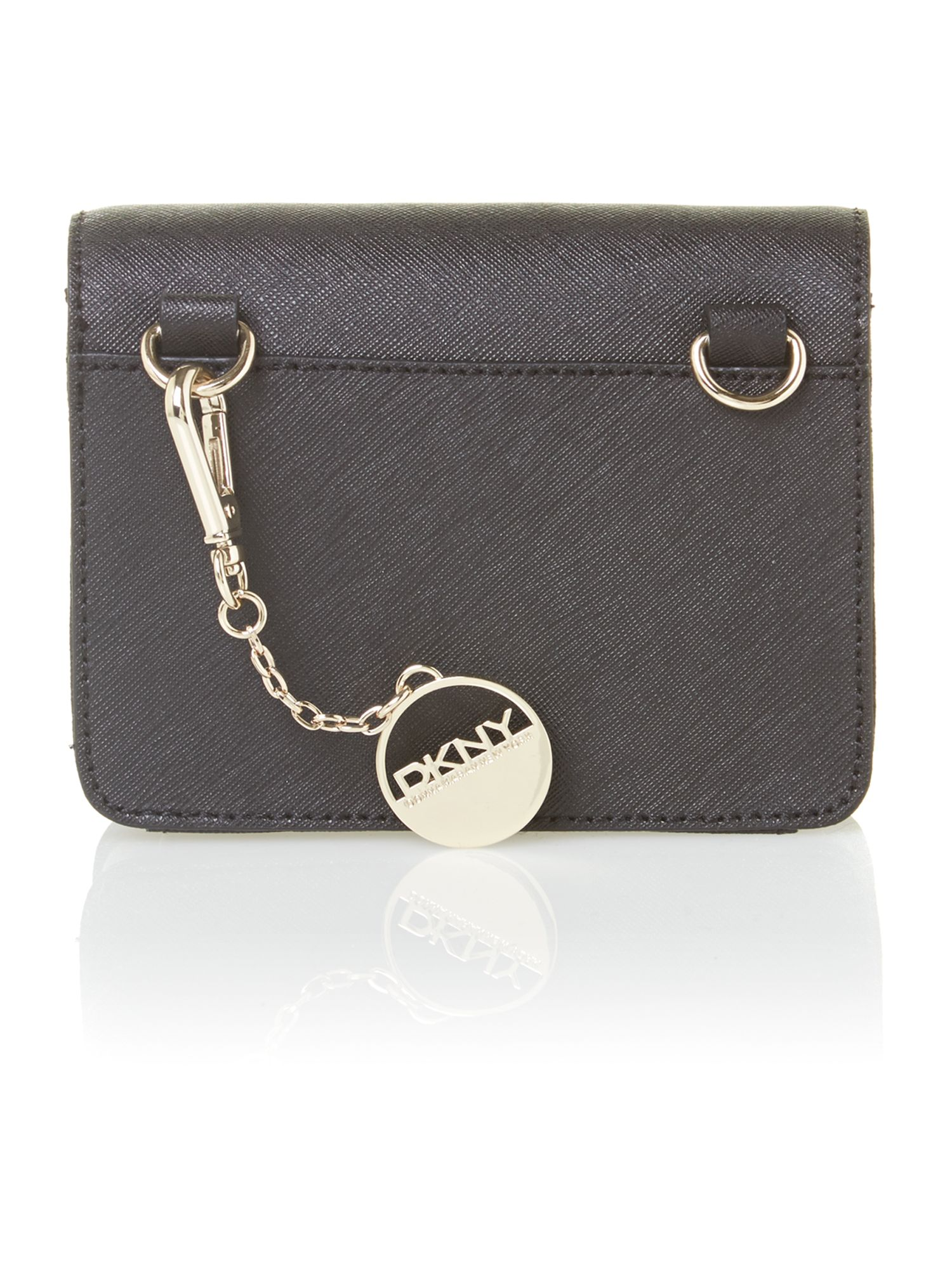 Saffiano items black mini crossbody bag