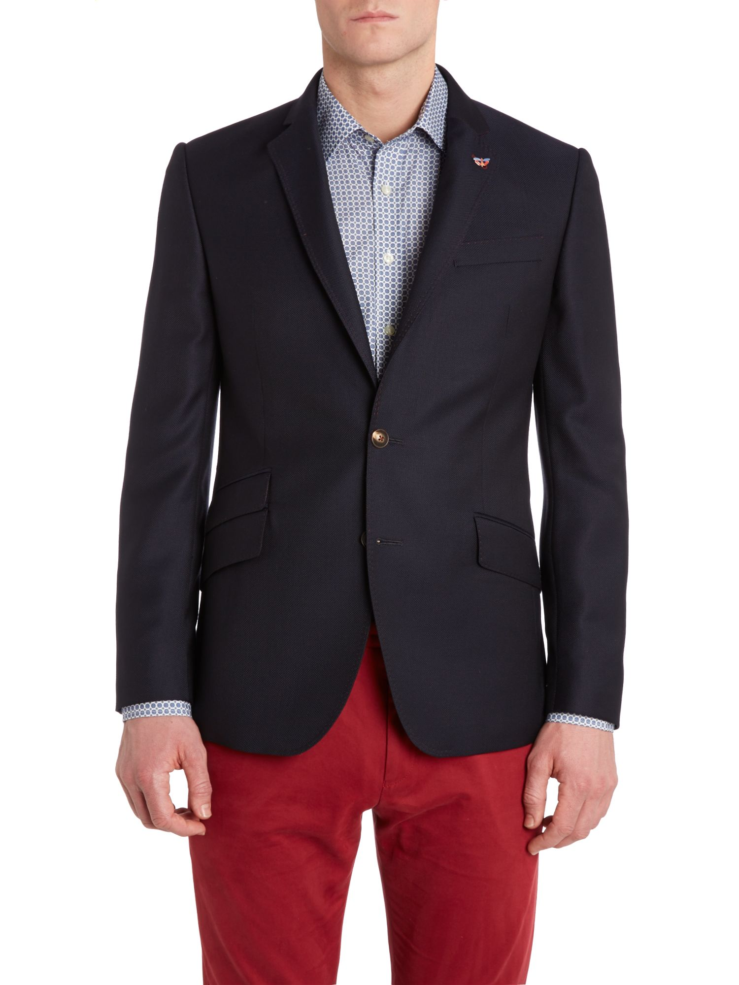Hopsack regular fit blazer