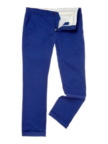 Flat front slim fit trouser
