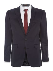 Cotton sateen slim fit jacket