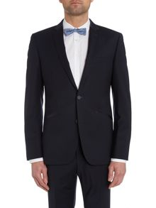 Satin trimmed slim fit dinner jacket