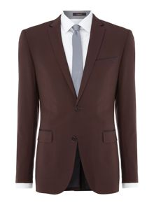 Simon Carter Satin trimmed slim fit suit jacket
