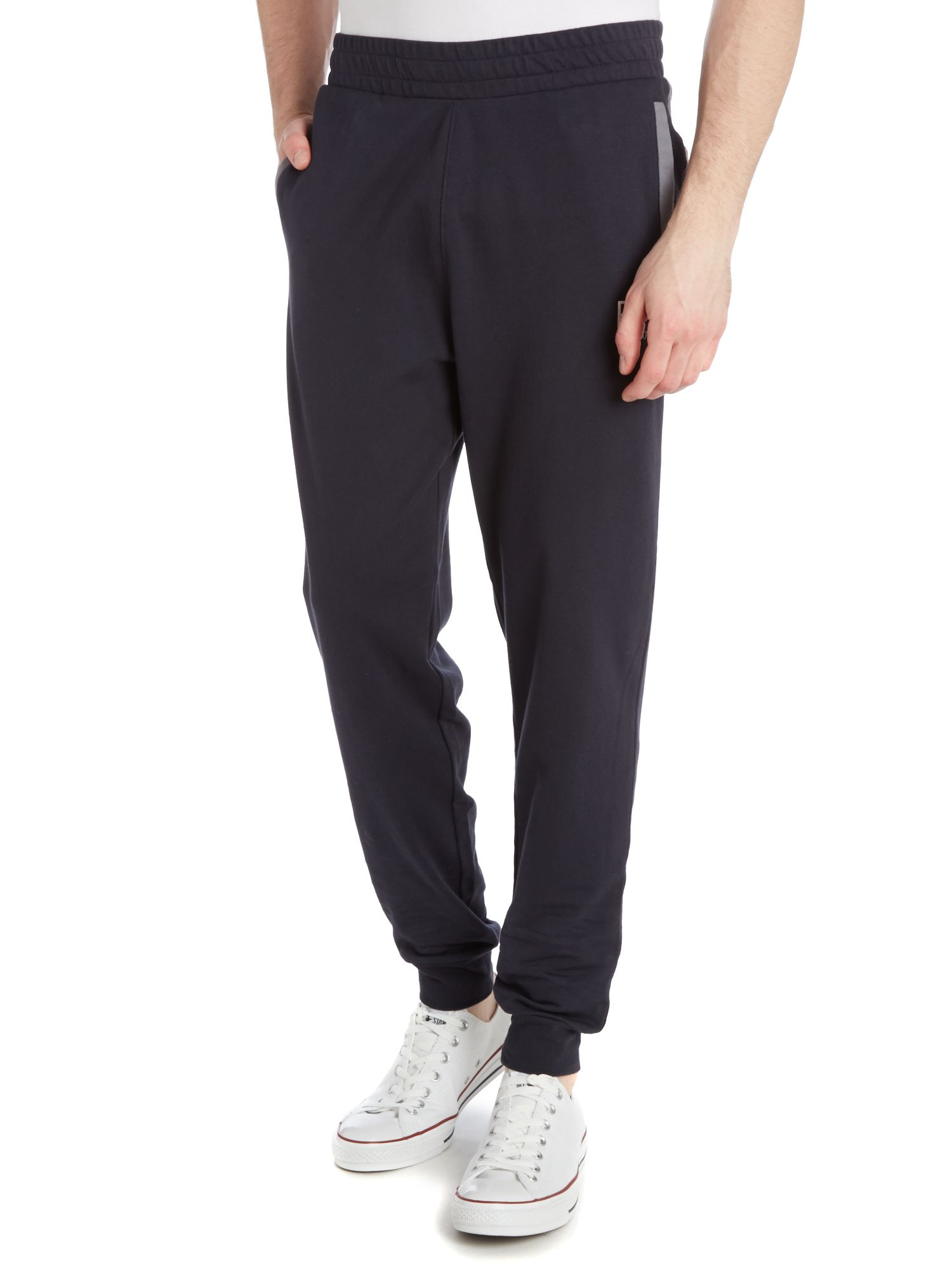 Train core colour block cuffed tracksuit bottoms