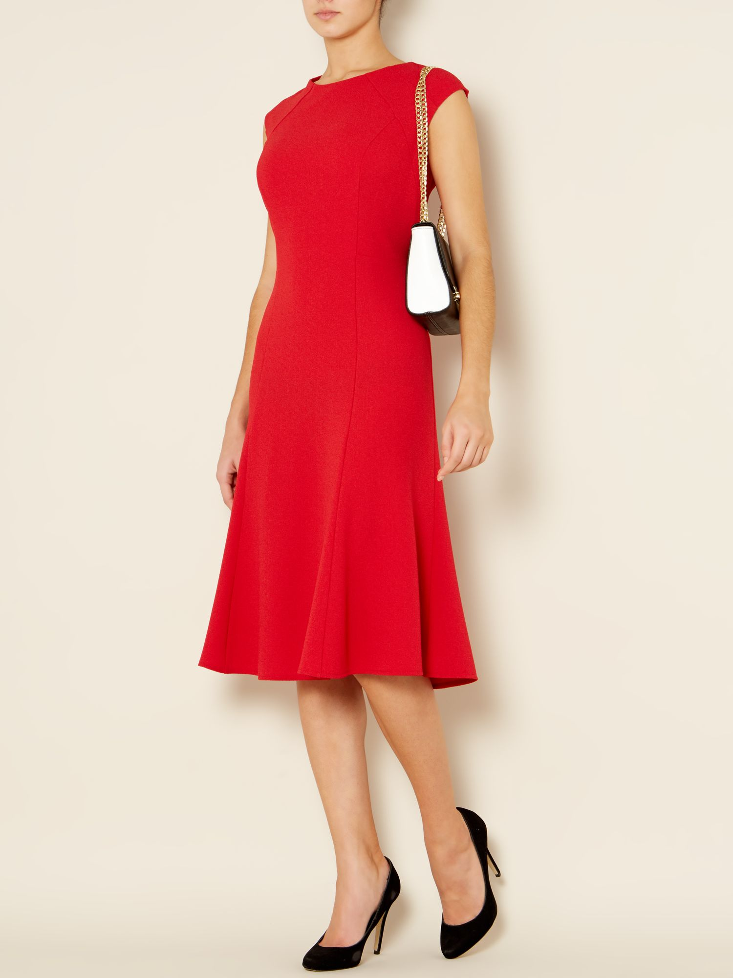 Eileen crepe full skirted dress