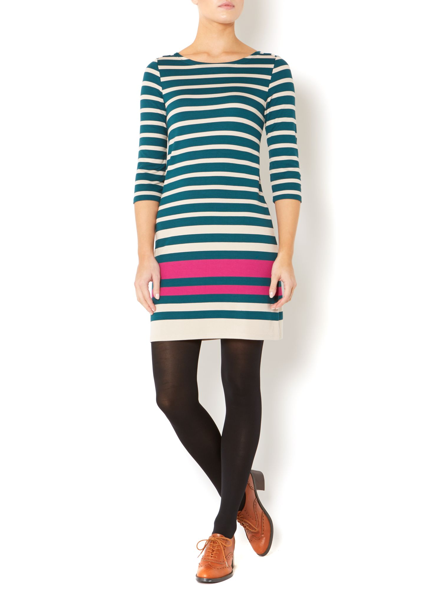 Auto stripe ponte dress
