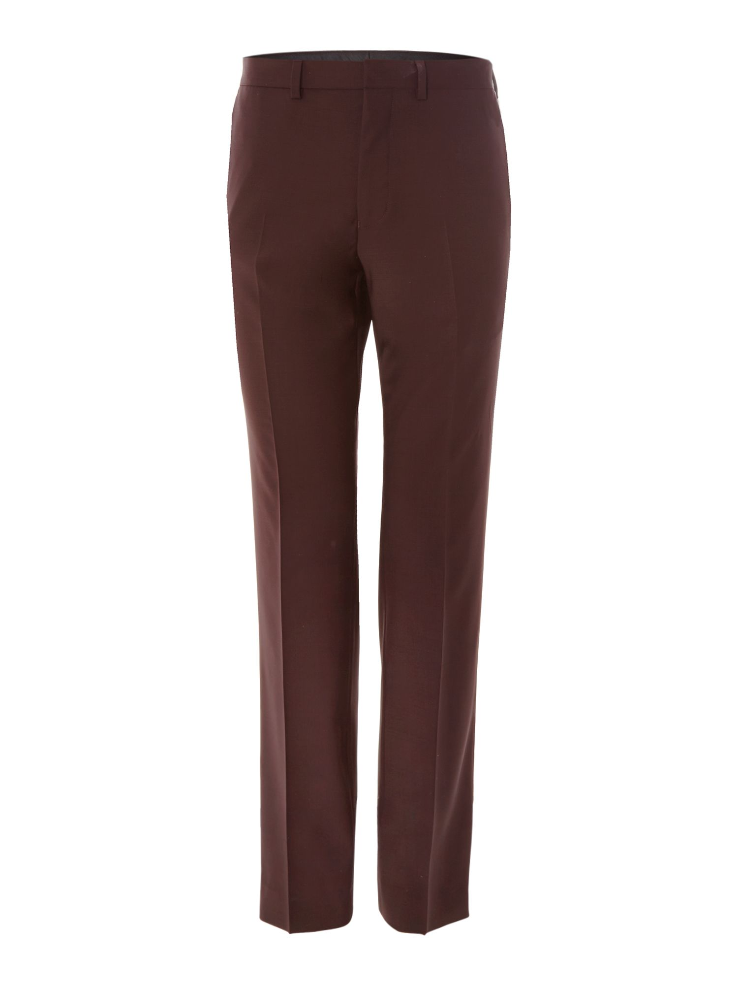 Satin trimmed slim fit trousers