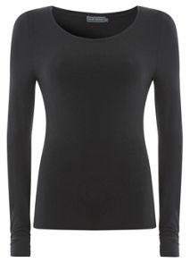 Black Long Sleeve Modal Tee