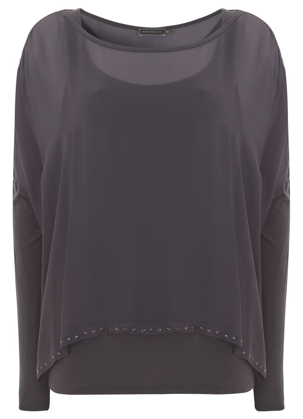 Midnight double layer studded top