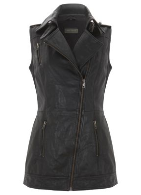 Mint Velvet Leather Gilet