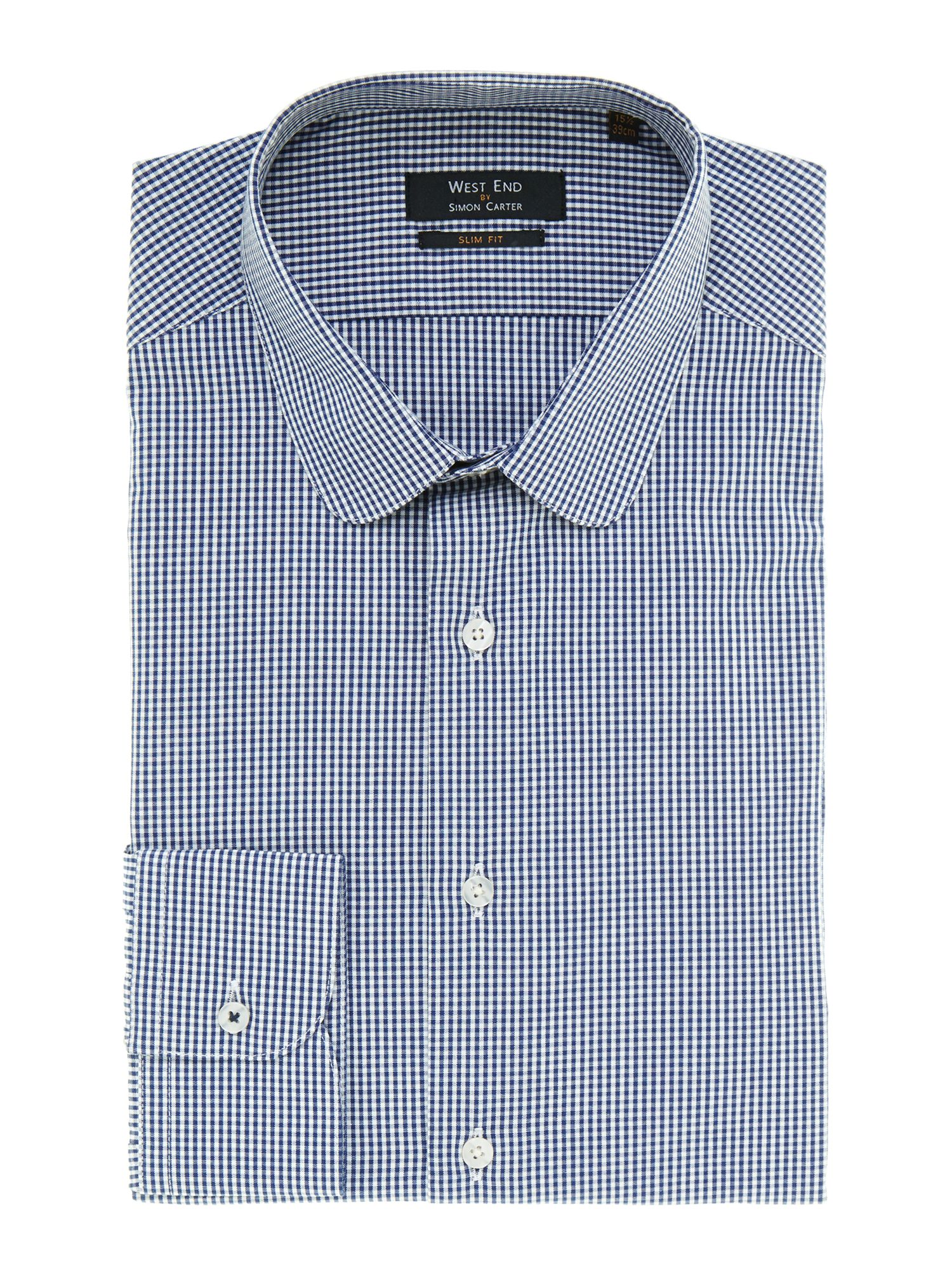 Penny gingham slim fit shirt