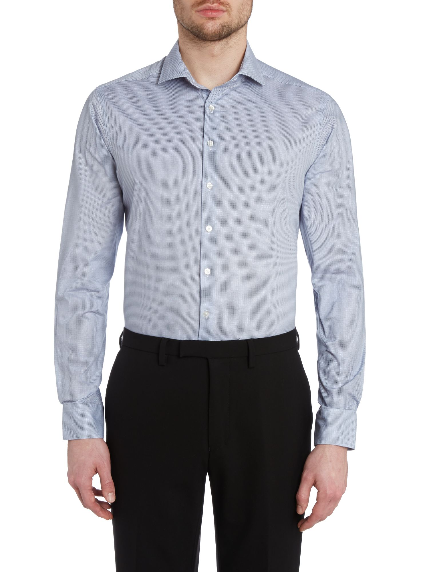 Geo spot slim fit shirt
