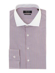 Grid check slim fit shirt
