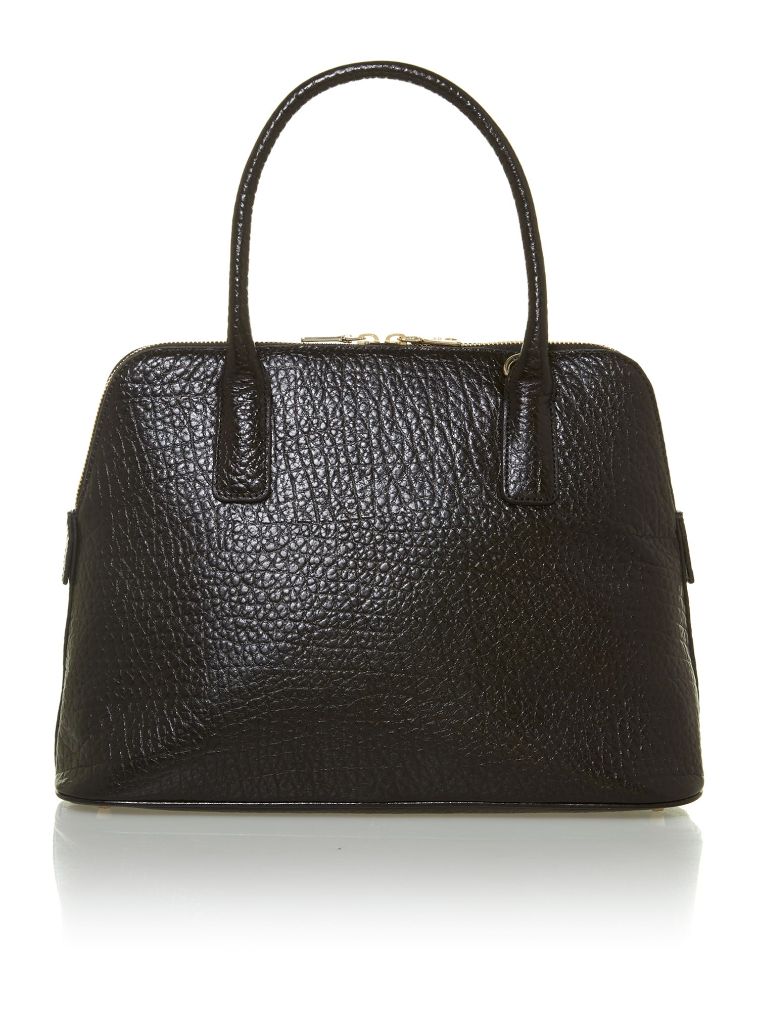 French grain black dome bag