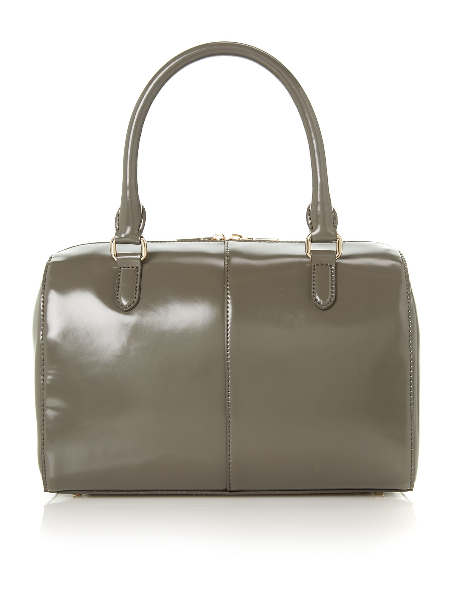 Hudson grey medium zip tote bag