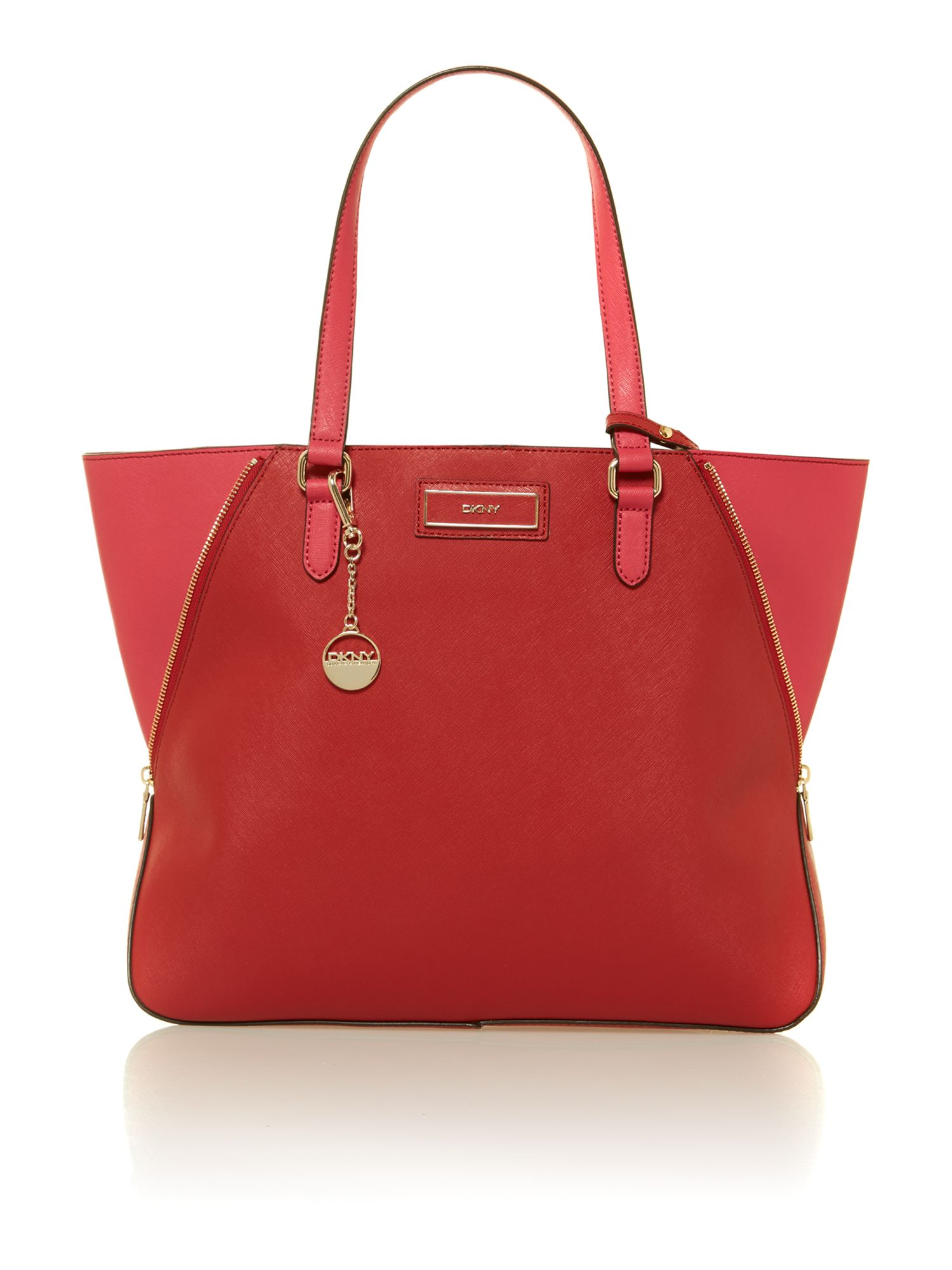 Saffiano red large tote bag