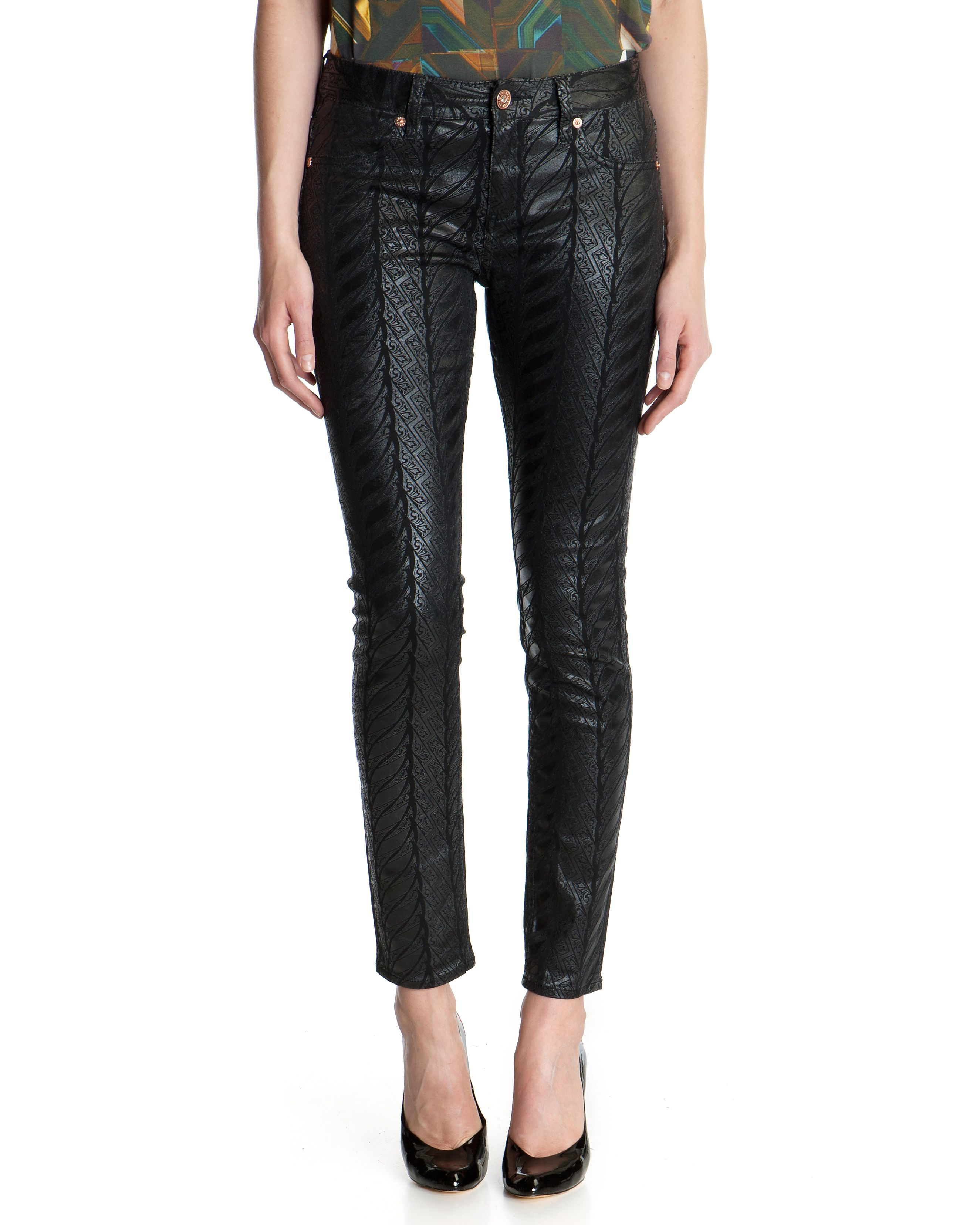 Gerrie deco print denim