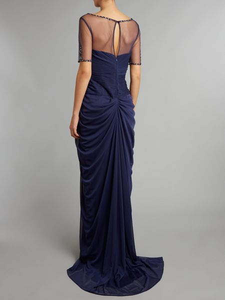 Adrianna Papell Necklace draped gown