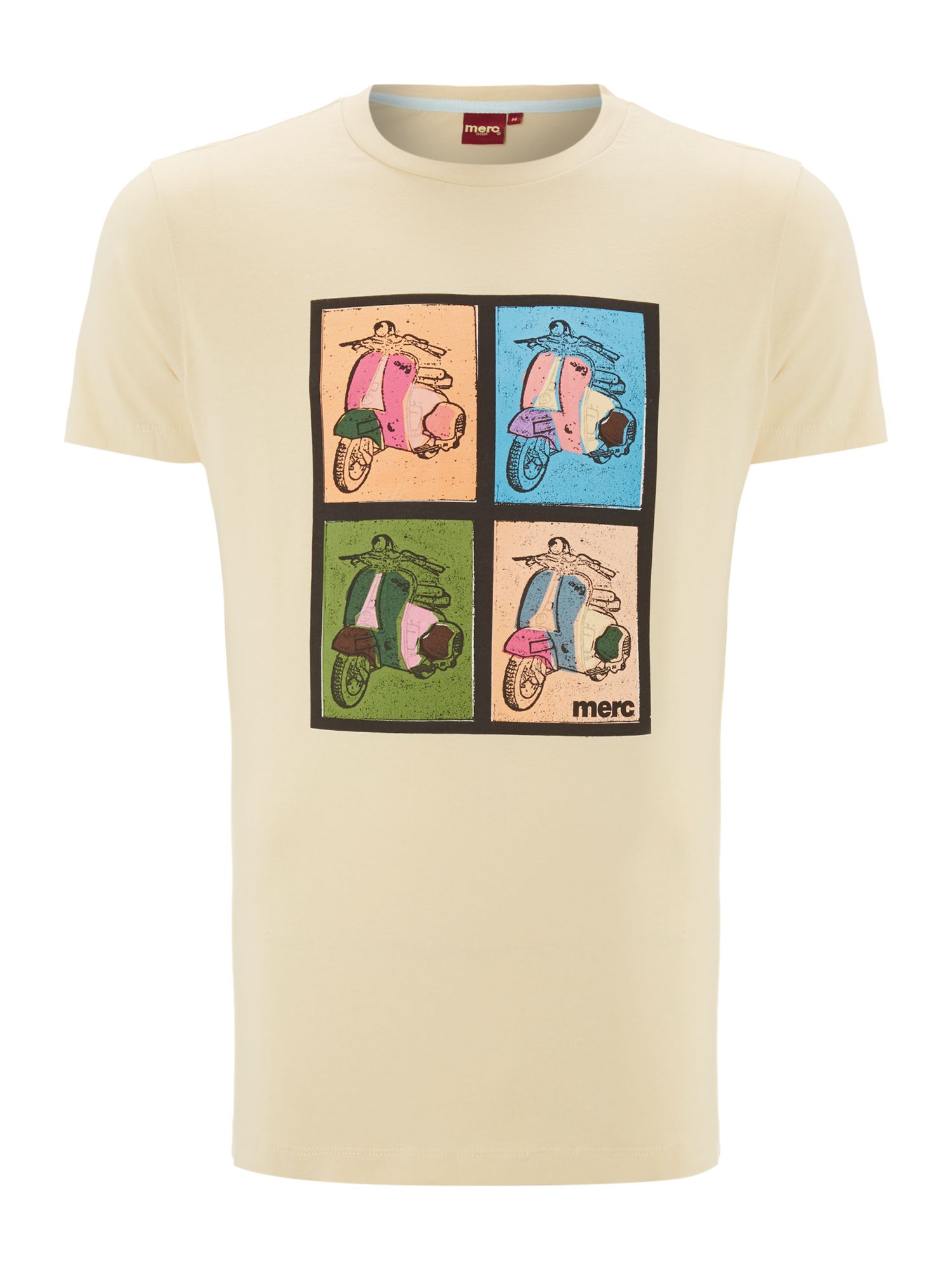 Short sleeve scooter print T-shirt