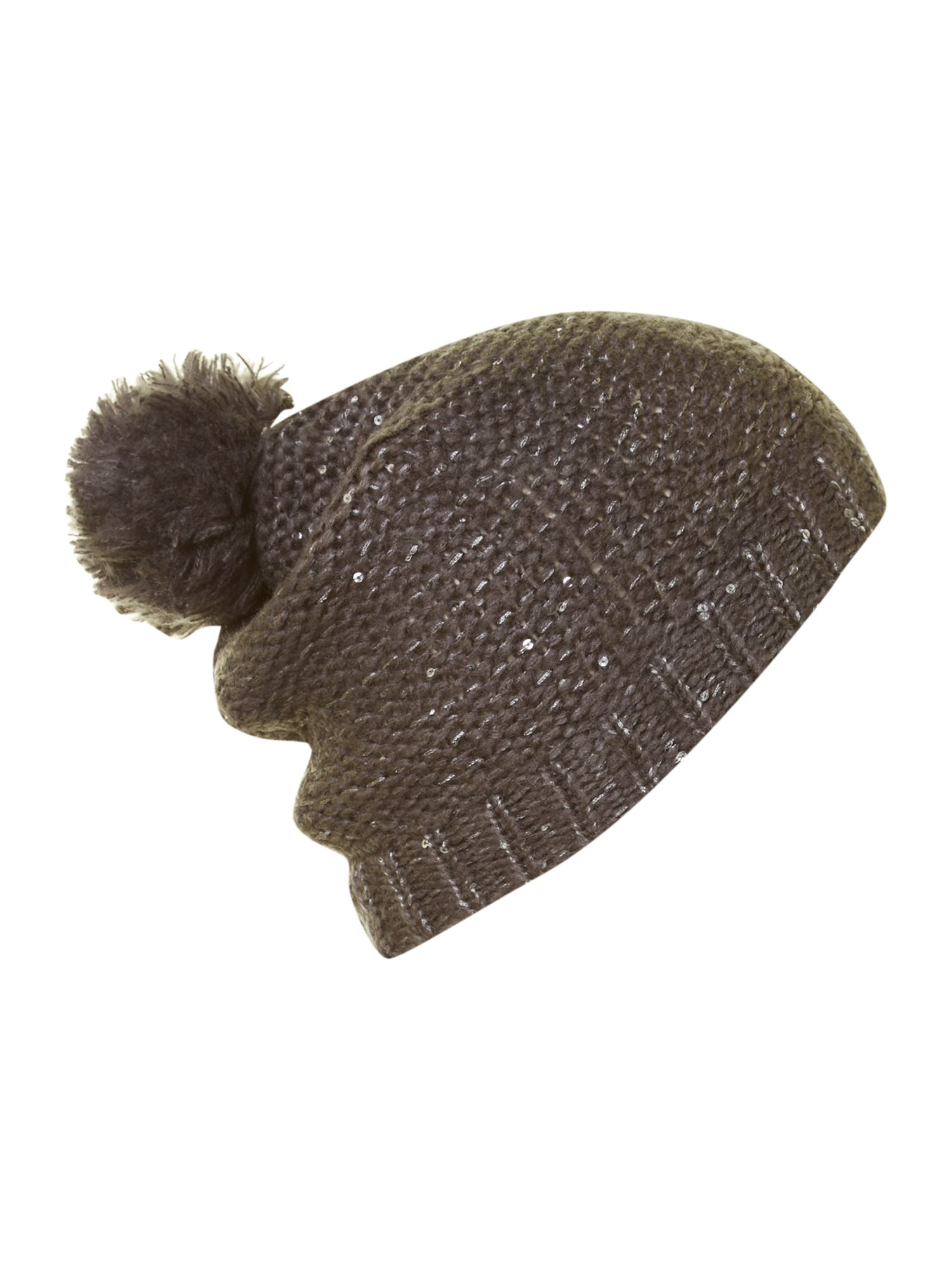 Vanessa sequin detail bobble hat