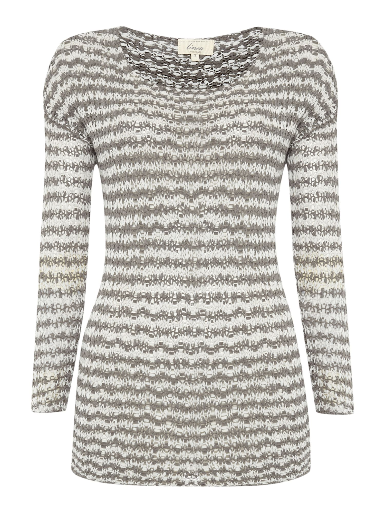 Stripe tape yarn knit jumper