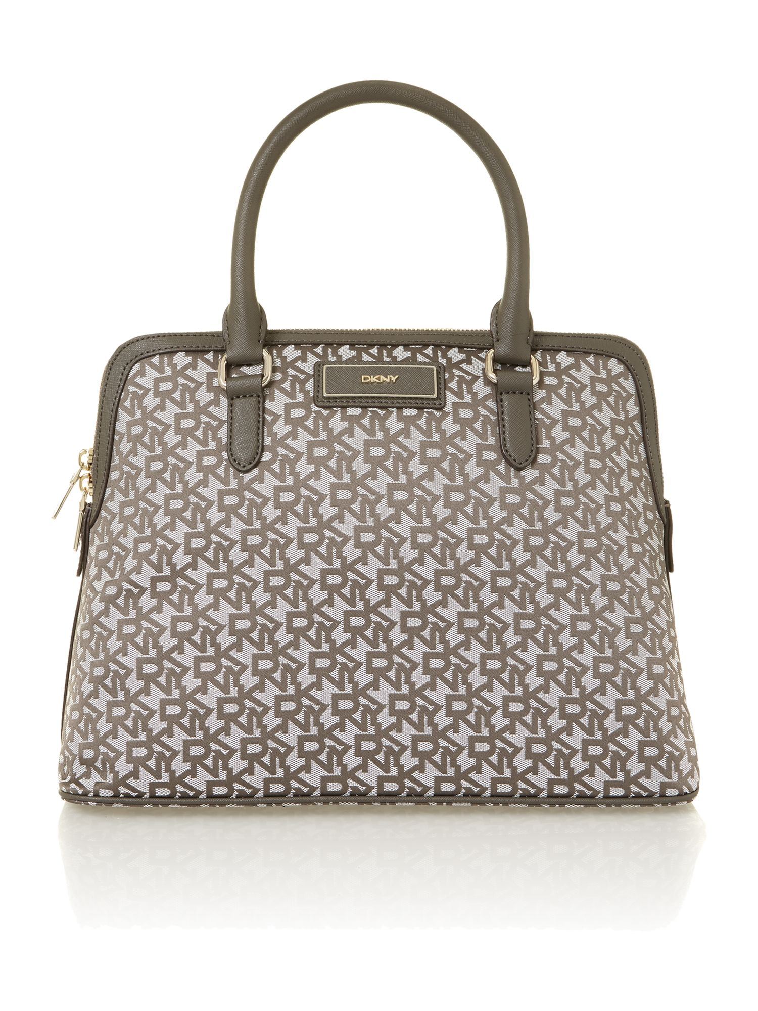 Saffiano grey dome bag