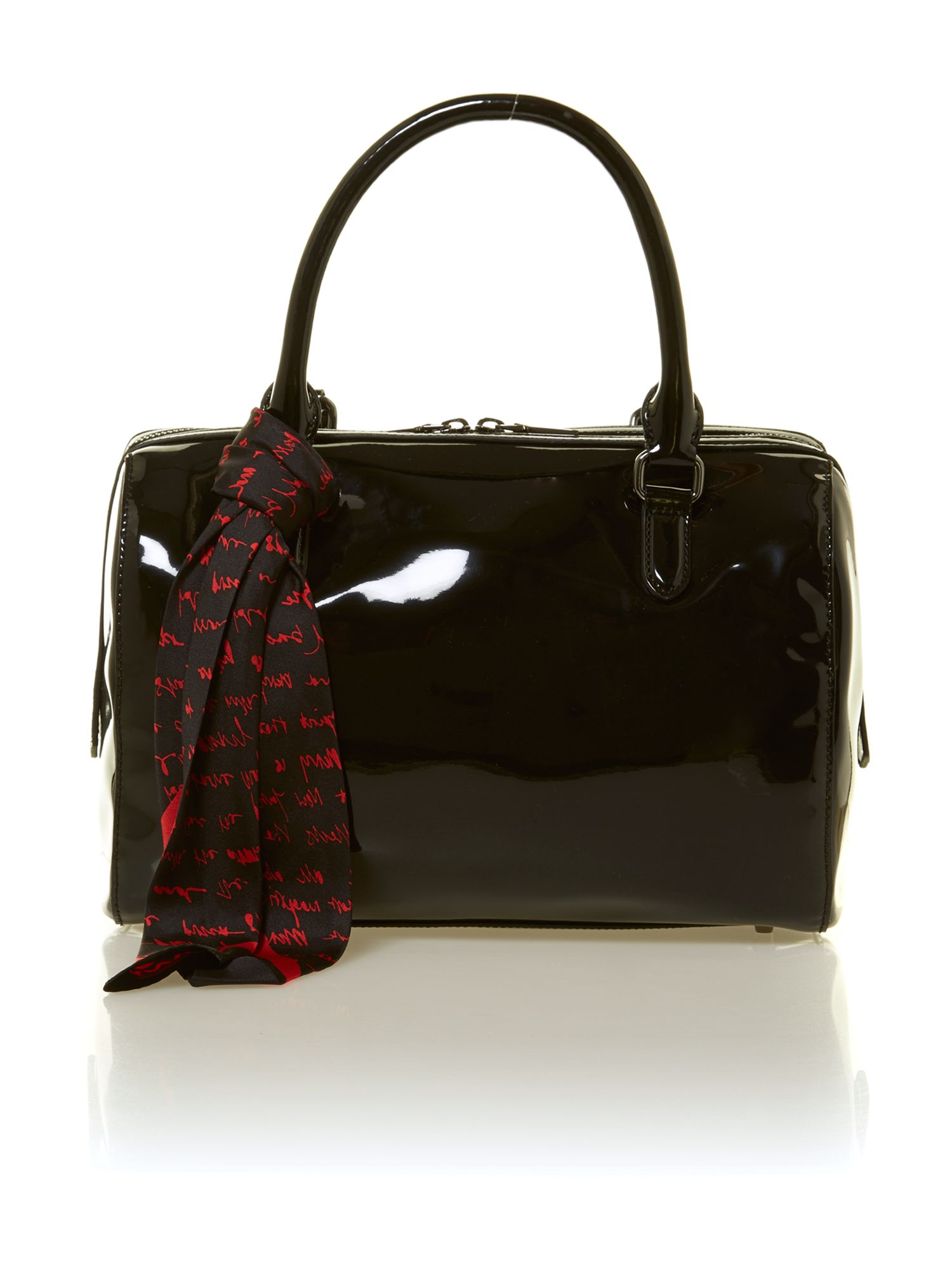 Black patent scarf bowling bag