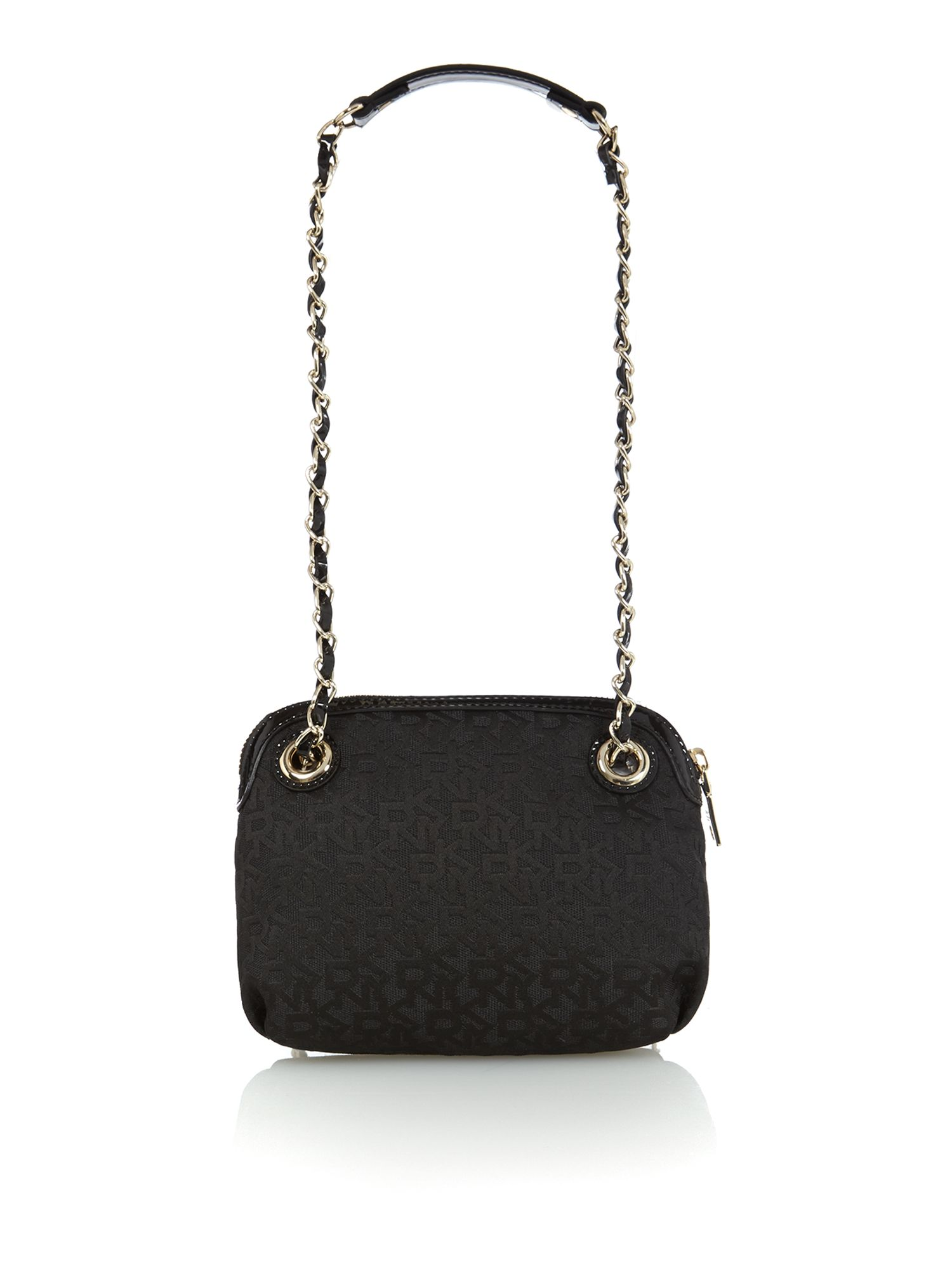 Black patent small crossbody bag