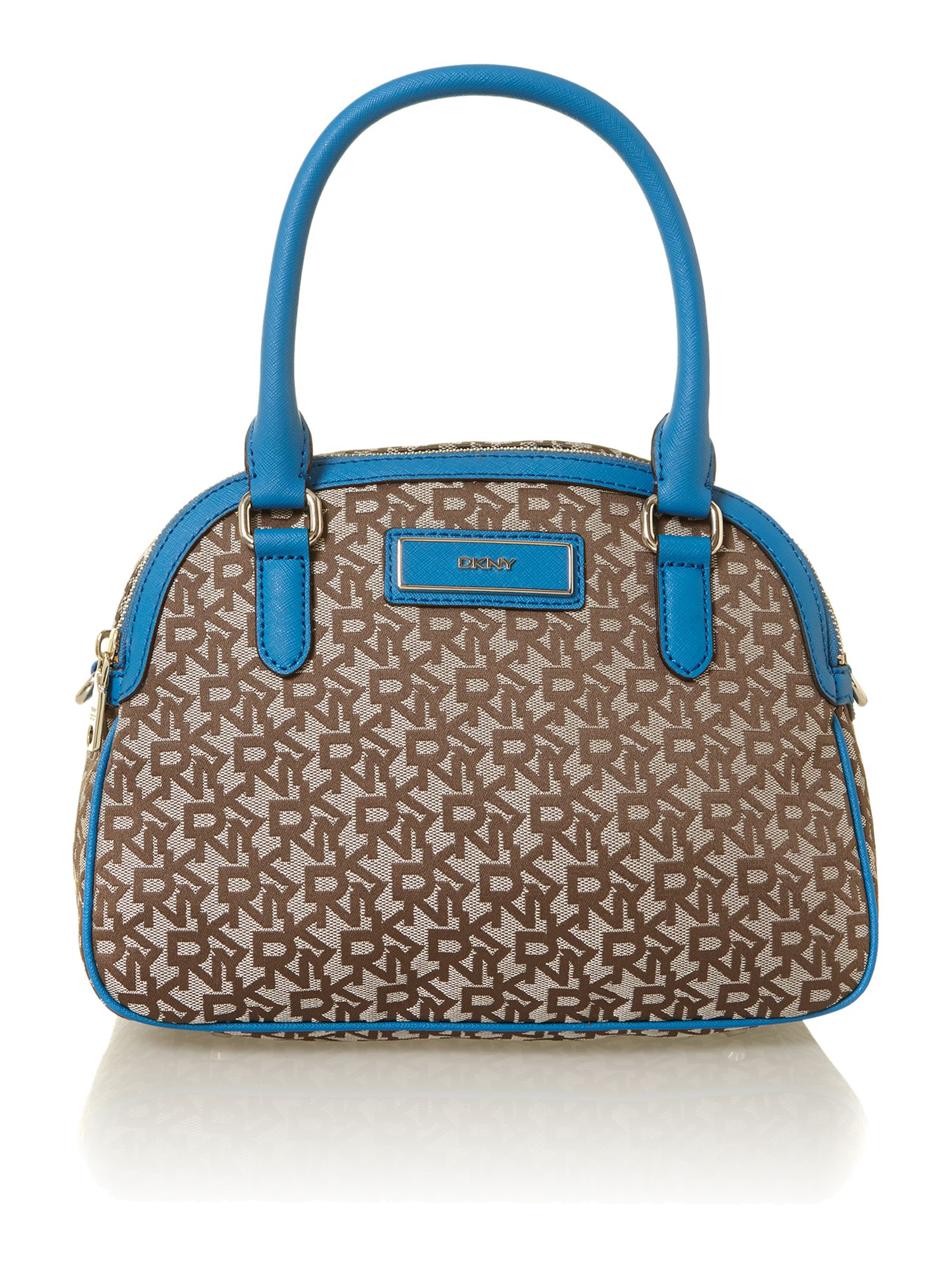 Saffiano blue small dome bag