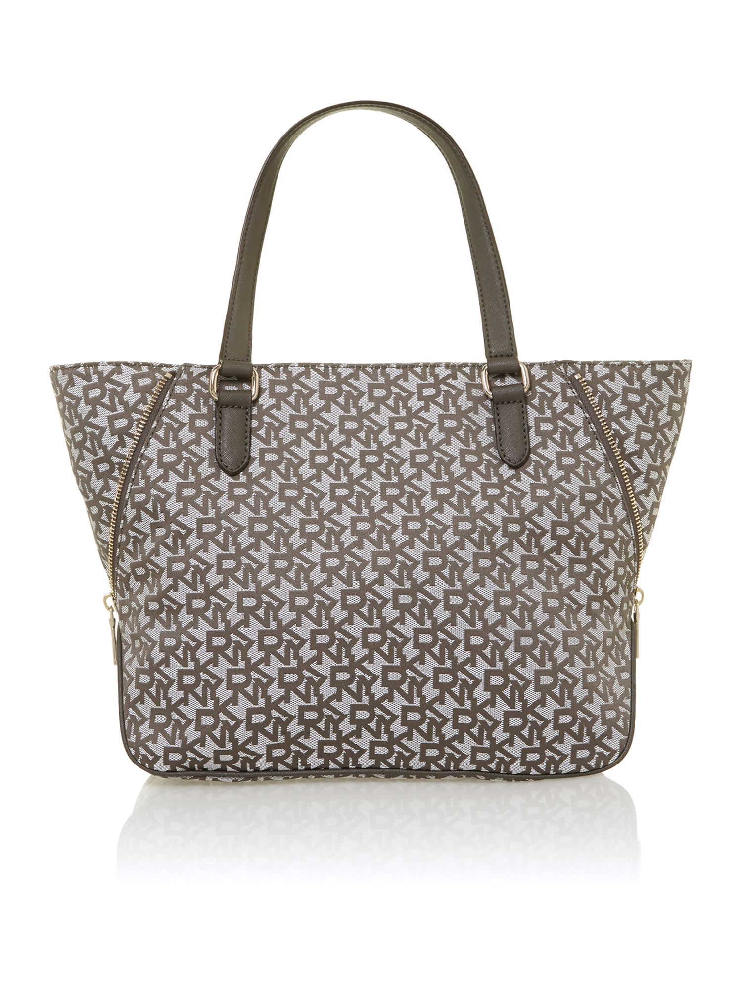 Saffiano grey tote bag